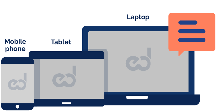 different devices for using mindsed webpage