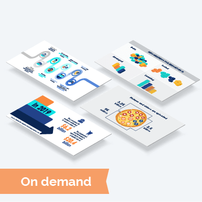 Infographics kit for an On Demand course