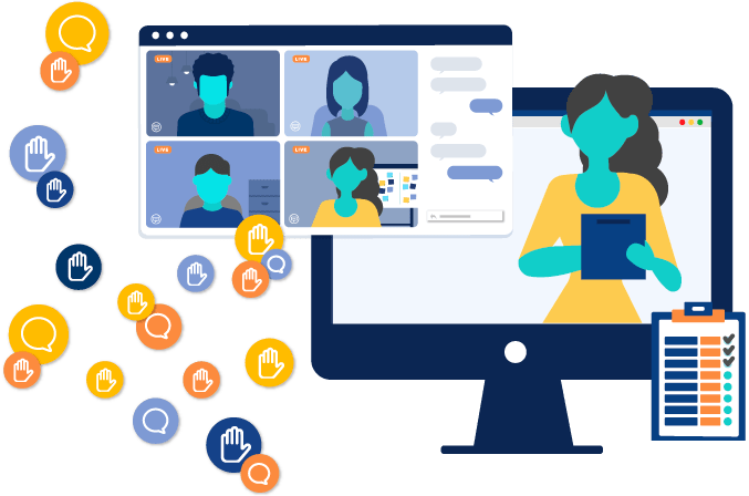 Facilitator on an online training